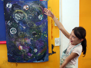 Out of this world- space painting