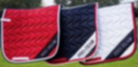 tapis de selle d'équitation multicolors
