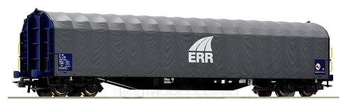 Roco 76476 -  Carro tipo Rilnss con copertura scorrevole in tela cerata ERR - H0