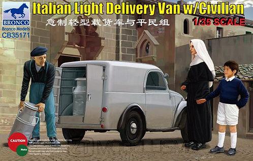 Bronco models CB35171 - Italian light delivery Van w/Civilian - 1:35