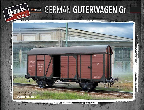 Thunder Model 35902  - German Gedeckter Guterwagen - 1:35