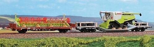 ACME 40008 - Set con carro Kgps e Uai con mietitrebbiatrice Wiking - H0