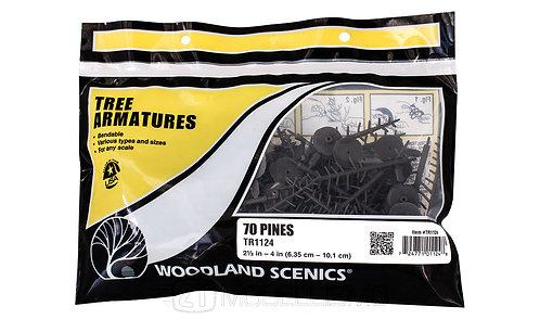 Woodland scenics TR1124 - Tree armatures, 70 pines