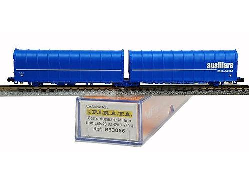 Pi.R.A.T.A. N33066 - Carro doppio telonato AUSILIARE MILANO, tipo Lails - N