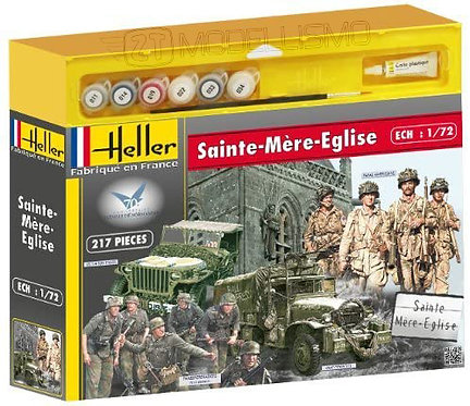 Heller  - Set Sainte Mère Eglise - 1:72