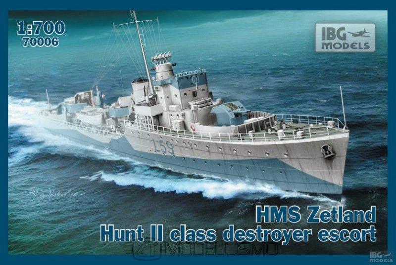 IBG Models 70006 - HMS Zetland Hunt II, class destroyer escort