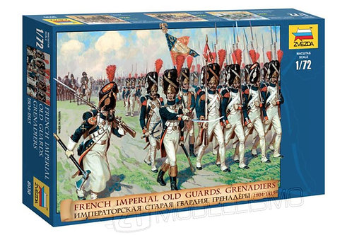 Zvezda 8030 - French imperial old guards, Grenadiers - 1:72