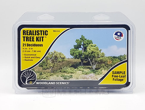 Woodland scenics TR1111 - Realistic tree kit, 21 deciduous