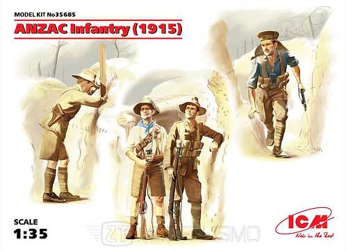 ICM 35685 - WWI Russian Infantry - 1:35