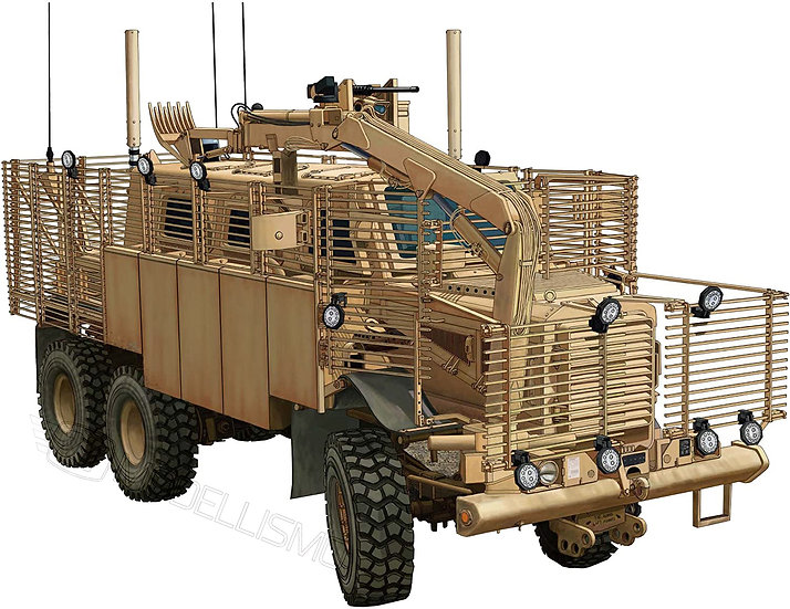 "Bronco models CB35145 - ""Buffalo"" 6x6 MPCV w/slat Armour & SpacedVersion - 1:35"