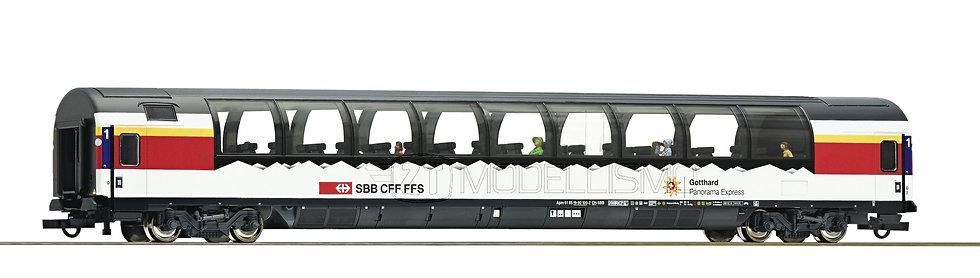 "Roco 74400 - Carrozza passeggeri panoramica ""Gotthard"", SBB CFF FFS - H0"