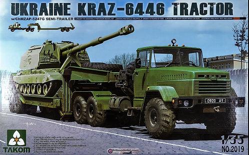 Takom 2019 - Ukraine Kraz-6446 Tractor - 1:35