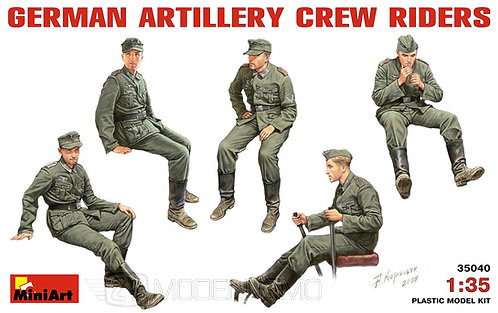 MiniArt 35040 - GERMAN ARTILLERY CREW RIDERS - 1:35
