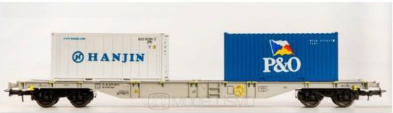 B-models 54181 - Carro merci con container Sgns, AAE Cargo - H0