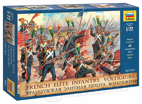 Zvezda 8042 - French elite infantry, Voltigeurs - 1:72