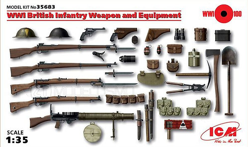ICM 35683 - WWI British Infantry Weapon and Equipment - 1:35