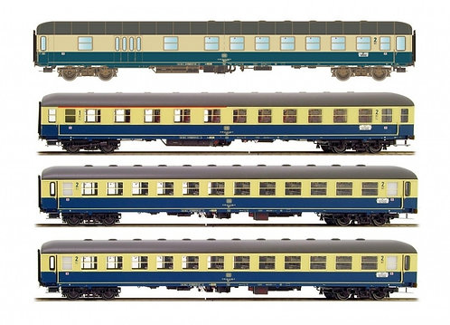 "HobbyTrain H43025 - Set 4 carrozze ""Ostsee Express"" 1980 Monaco-Berlino - H0"