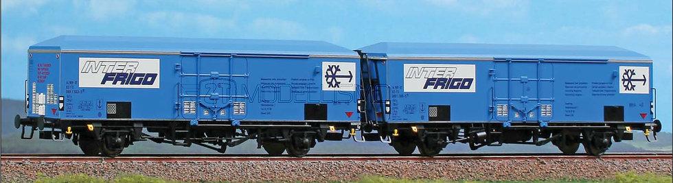ACME 45079 - Set di due carri INTERFRIGO sagoma inglese, FS - H0