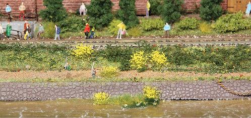 Heki 1804 - 100 ciuffi d'erba rossi e gialli