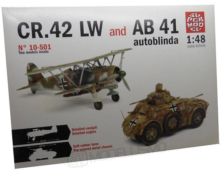 SuperModel 10-501 - CR. 42 LW & AB 41 autoblinda - 1:48