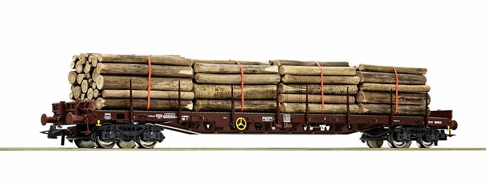 Roco 76574 - Carro tipo Rs con carico di tronchi - H0