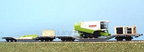 ACME 45086 - Set di due carri Uai con mezzo agricolo smontato, FS - H0