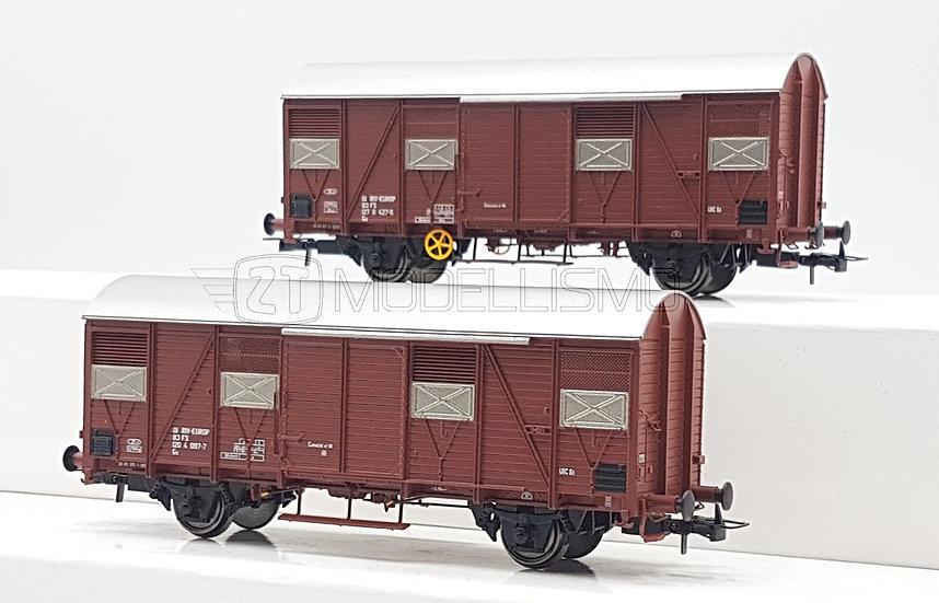 Rivarossi HR6457 - Set di due carri chiusi tipo Gs a 2 assi - H0