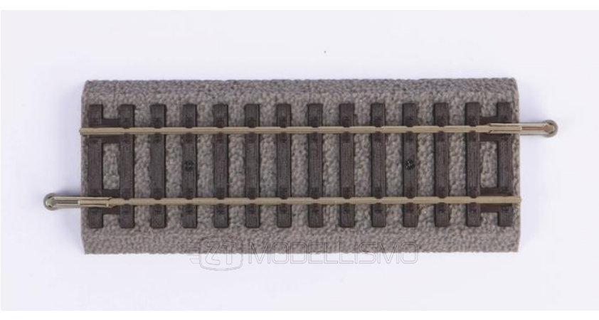 Piko 55404 - Binario drittocon massicciata 107 mm  - H0
