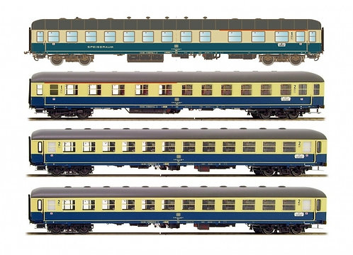 "HobbyTrain H43027 - Set 4 carrozze ""Ostsee Express"" 1980 Monaco-Berlino - H0"