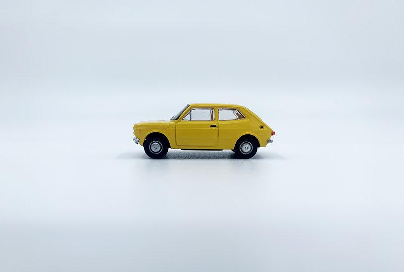 Brekina 22502 - Fiat 127, gialla - H0
