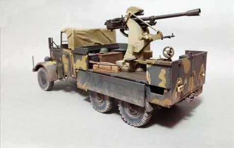 IBG Models 35005 - Camion Einheitsdiesel con Antiaerea Breda 37mm - 1:35