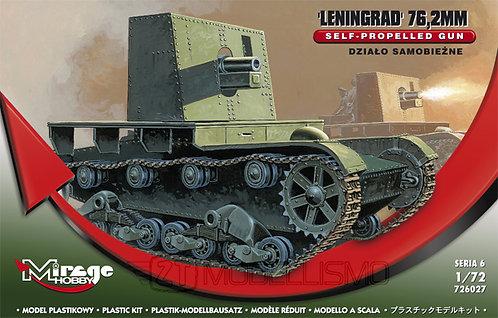 Mirage Hobby 726027 - Self-propeled Gun: Leningrad 76.2mm - 1:72