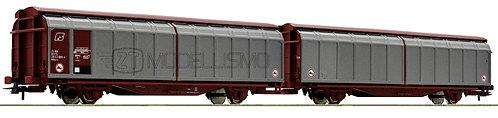 """Roco 76734 - Carro doppio tipo """"Himrrs"""" a pareti scorrevoli - H0"""