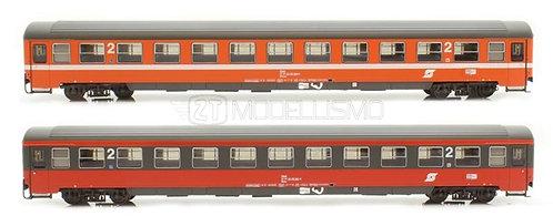"""ACME 55180 - Set di due carrozze di 2° cl """"Adria Express"""", Bmoz/Bmz, OBB - H0"""