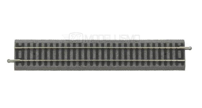 Piko 55401 - Binario rettilineo 231 mm, con massicciata - H0