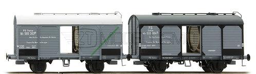 ACME 45055 - Set 2 carri trasporto vino, Cantina Soc. Faenza e Adria Vini- H0