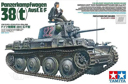 Tamiya 35369 - German Light Tank Panzerkampfwagen 38(t) Ausf.E/F - 1:35