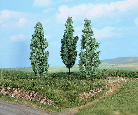 Heki 1783 - Set di 3 alberi di pioppo argentato