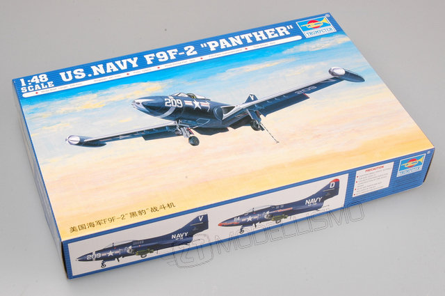 """Trumpeter 02832 - US.NAVY F9F-2 """"PANTHER"""" - 1:48"""