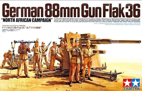 Tamiya 35283 - 88mm GUN FLAK36 NORD AFRICA - 1:35
