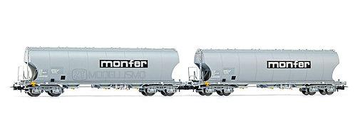 "Rivarossi HR6426 - Set di due carri tramoggia Uagpps parco ""MONFER""- H0"