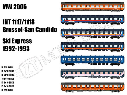 "MW2005 - INT 1117/1118 ""Ski Express"" Bruxelles - San Candido/Zell Am See - H0"