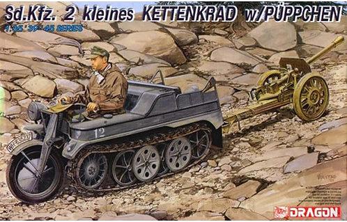 Dragon 6114 - Sd.Kfz. 2 kleines Kettenkrad w/Puppchen - 1:35