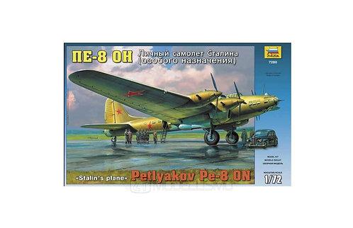 """Zvezda 7280 - Petlyakov PE-8 ON """"Stalin's Plane"""" - 1:72"""