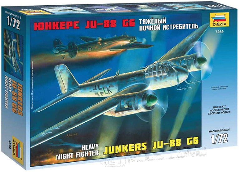 Zvezda 7269 -  WWII German Night Hunter Junkers JU 88 G6 - 1:72