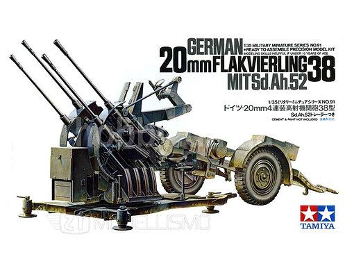 Tamiya 35091 -GERMAN 20mm FLACKVIERLING - 1:35