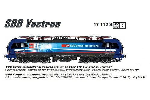 "L.S. Model 17112S - Vectron 193 SBB Cargo International ""Ticino"", DCC Sound - H0"