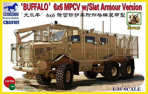 "Bronco models CB35101 - ""Buffalo"" 6x6 MPCV w/slat Armour Version - 1:35"