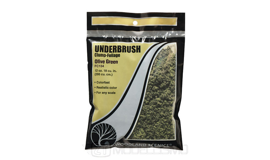Woodland scenics FC134 - Underbrush, olive green