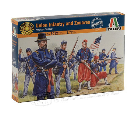 Italeri 6012 - Union Infantry and Zouaves, Guerra civile americana - 1:72